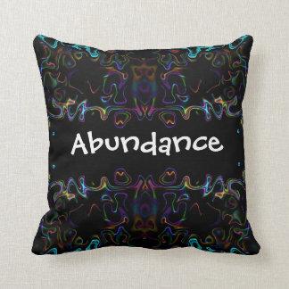 Abundance: Modern Art Throw Pillow