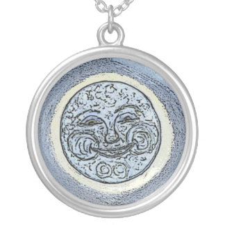 Abundance Moon Silver Plated Necklace