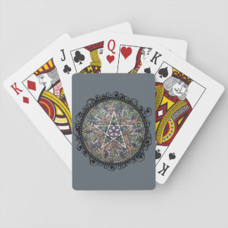 Abundance Pentacle Playing Cards - Grey