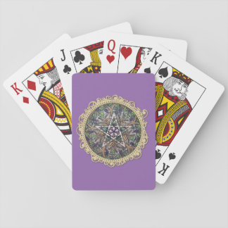 Abundance Pentacle Playing Cards - Purple