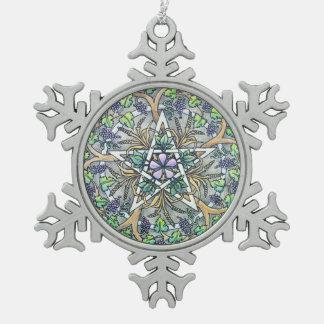 Abundance Pentacle Snowflake Ornament