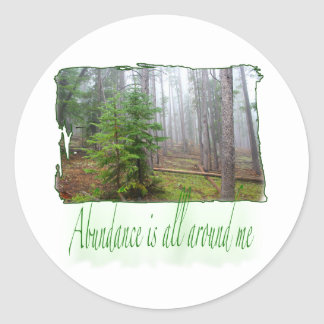 Abundance Round Sticker
