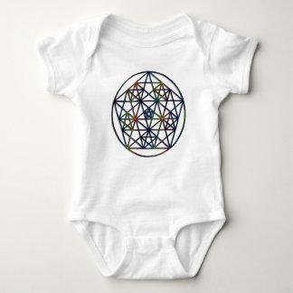 Abundance Sacred Geometry Fractal of Life Baby Bodysuit