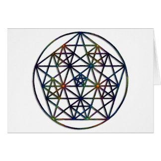 Abundance Sacred Geometry Fractal of Life Card