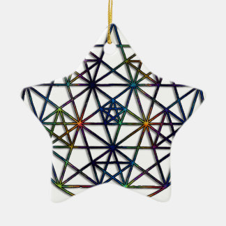 Abundance Sacred Geometry Fractal of Life Ceramic Ornament
