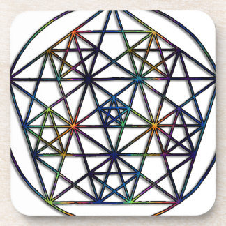 Abundance Sacred Geometry Fractal of Life Coaster