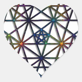 Abundance Sacred Geometry Fractal of Life Heart Sticker