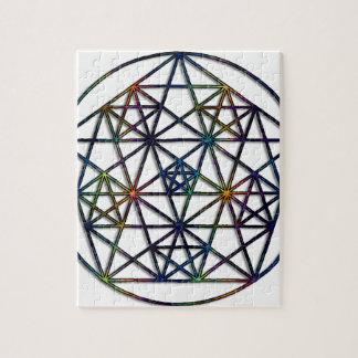 Abundance Sacred Geometry Fractal of Life Jigsaw Puzzle