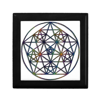 Abundance Sacred Geometry Fractal of Life Keepsake Box