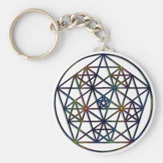 Abundance Sacred Geometry Fractal of Life Keychain