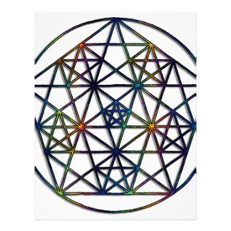 Abundance Sacred Geometry Fractal of Life Letterhead