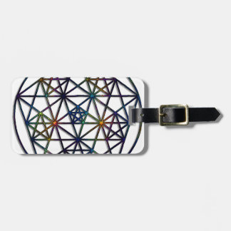 Abundance Sacred Geometry Fractal of Life Luggage Tag