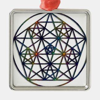 Abundance Sacred Geometry Fractal of Life Metal Ornament