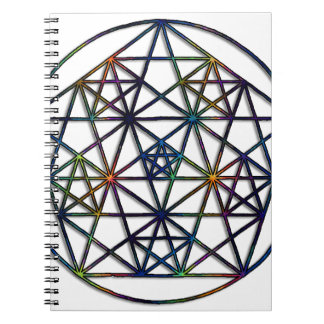 Abundance Sacred Geometry Fractal of Life Notebook