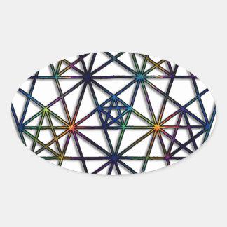 Abundance Sacred Geometry Fractal of Life Oval Sticker