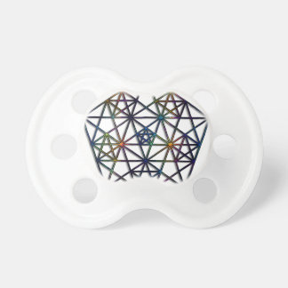 Abundance Sacred Geometry Fractal of Life Pacifier