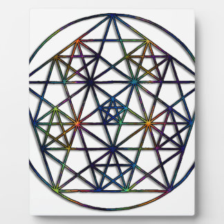 Abundance Sacred Geometry Fractal of Life Plaque