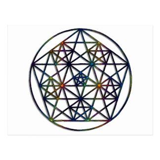 Abundance Sacred Geometry Fractal of Life Postcard