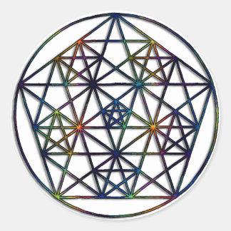 Abundance Sacred Geometry Fractal of Life Round Sticker