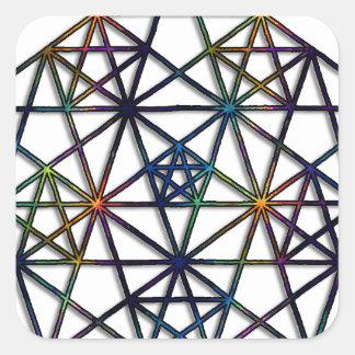 Abundance Sacred Geometry Fractal of Life Square Sticker