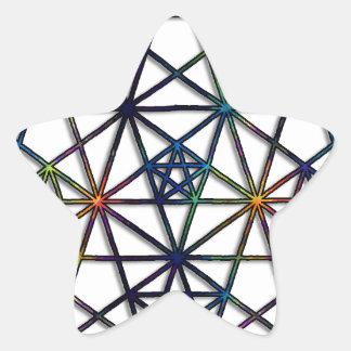 Abundance Sacred Geometry Fractal of Life Star Sticker
