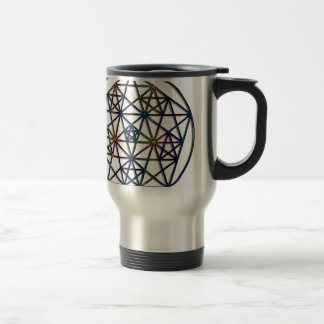 Abundance Sacred Geometry Fractal of Life Travel Mug