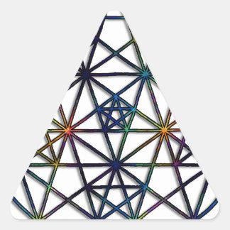 Abundance Sacred Geometry Fractal of Life Triangle Sticker