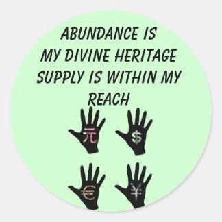 Abundance stickers