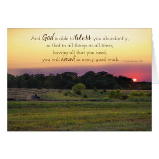 Abundant Blessings encouragement card