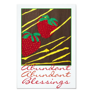 """Abundant Blessings"" Strawberries Card"