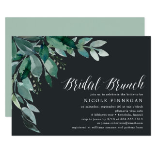 Abundant Foliage | Bridal Brunch Invitation
