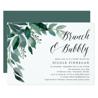 Abundant Foliage | Brunch & Bubbly Invitation
