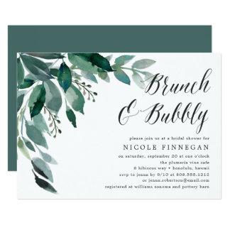 Abundant Foliage   Brunch & Bubbly Invitation