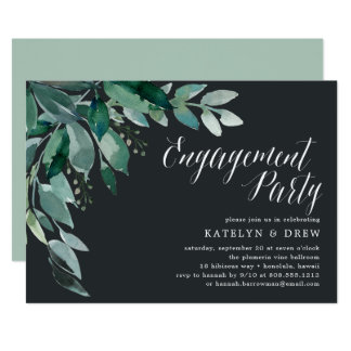 Abundant Foliage | Engagement Party Invitation