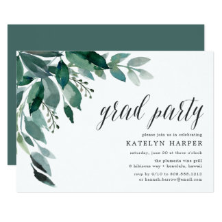 Abundant Foliage | Graduation Party Invitation