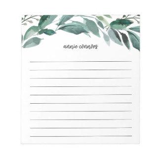 Abundant Foliage   Personalized Lined Notepad