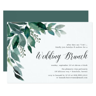 Abundant Foliage | Wedding Brunch Invitation