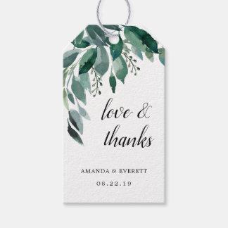 Abundant Foliage Wedding Favor Thank You Gift Tags