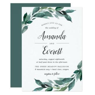 Abundant Foliage Wedding Invitation