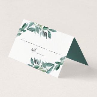 Abundant Foliage Wedding Place Card