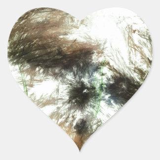 Abundant Greens2maya Heart Sticker