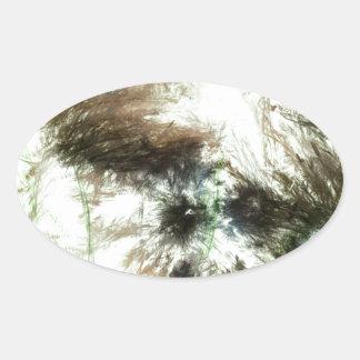 Abundant Greens2maya Oval Sticker