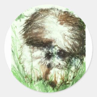 Abundant Greens2maya Round Sticker