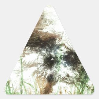 Abundant Greens2maya Triangle Sticker
