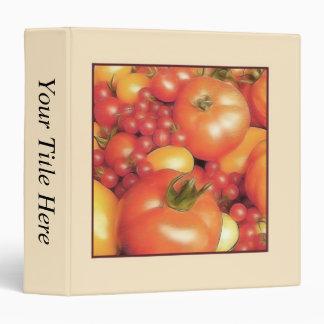 Abundant Harvest - Heirloom Tomatoes 3 Ring Binder