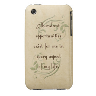 Abundant Opportunities Affirmation iPhone 3G/3Gs C iPhone 3 Covers