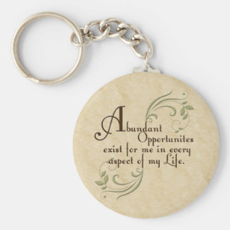 Abundant Opportunities Affirmation Keychain