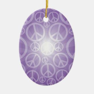 Abundant Peace Customize Product Ceramic Oval Ornament