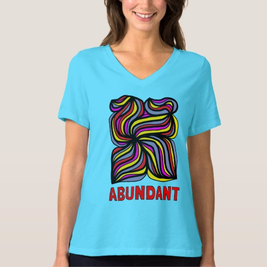 """Abundant"" Women's Relaxed Fit V-Neck T-Shirt"