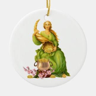 Abundantia Ceramic Ornament